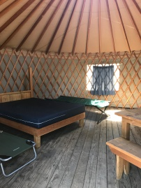 Inside the Large Yurt